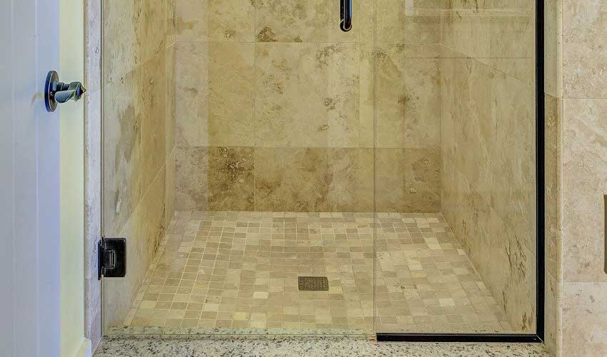 Tile Floor in Shower