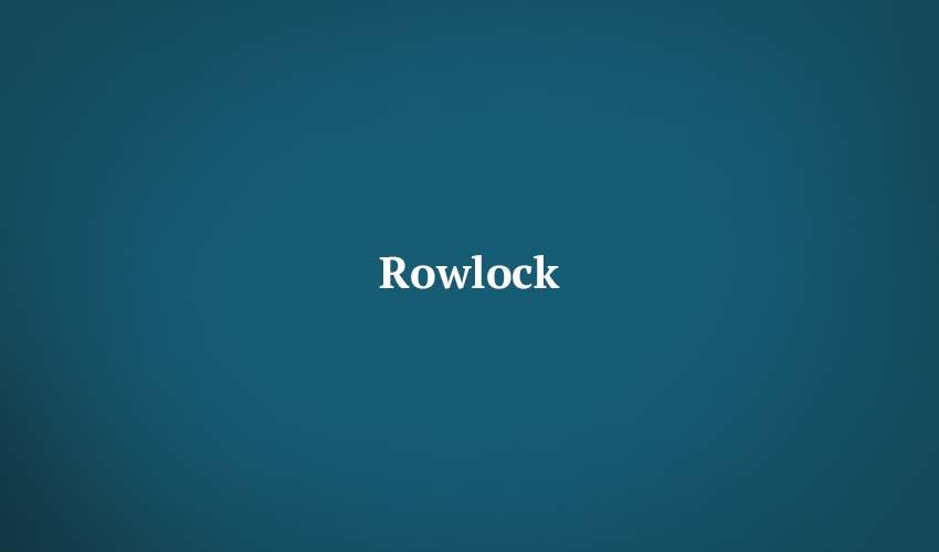 Rowlock