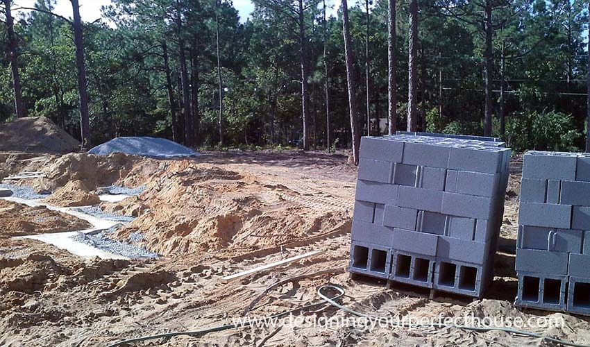 Basement Construction Concrete Blocks