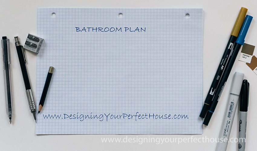 Bathroom Remodel Graph Paper