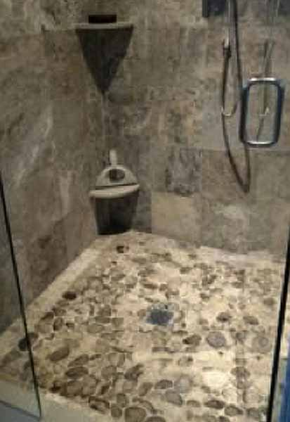 Petoskey Stone Shower Floor