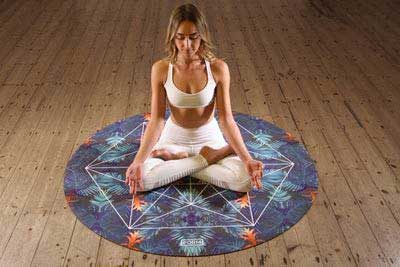 Home Gym Design Woman Meditating