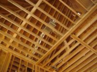 Ceilings are framed using industry sized 2X4's.
