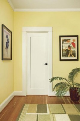 This standard sized door leaves plenty of room for a larger crown moulding