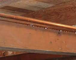 Water can enter the basement through condensation on the pipes.